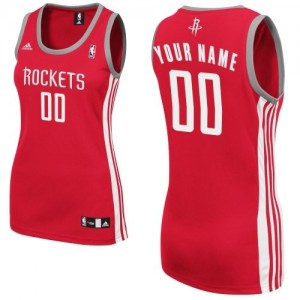 Maillot NBA Rouge Swingman Personnalisé Houston Rockets Road Femme Adidas