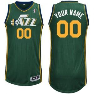 Maillot NBA Vert Authentic Personnalisé Utah Jazz Alternate Homme Adidas