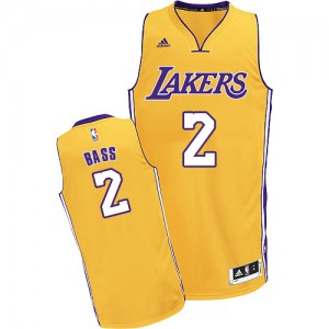 Maillot NBA Swingman Brandon Bass #2 Los Angeles Lakers Home Or - Homme