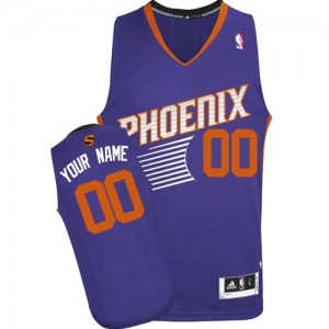 Phoenix Suns Personnalisé Adidas Road Violet Maillot d'équipe de NBA préférentiel - Authentic pour Enfants