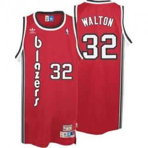 Portland Trail Blazers #32 Adidas Throwback Rouge Swingman Maillot d'équipe de NBA pas cher - Bill Walton pour Homme