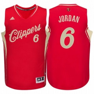 Maillot Authentic Los Angeles Clippers NBA 2015-16 Christmas Day Rouge - #6 DeAndre Jordan - Homme