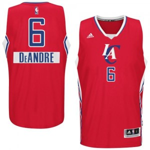 Maillot NBA Rouge DeAndre Jordan #6 Los Angeles Clippers 2014-15 Christmas Day Authentic Homme Adidas