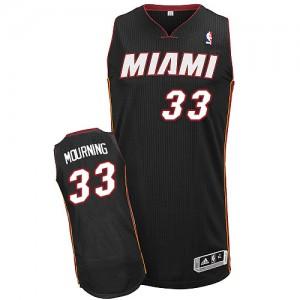 Miami Heat #33 Adidas Road Noir Authentic Maillot d'équipe de NBA Le meilleur cadeau - Alonzo Mourning pour Homme