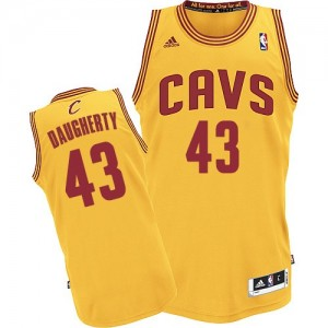 Maillot NBA Cleveland Cavaliers #43 Brad Daugherty Or Adidas Authentic Alternate - Homme