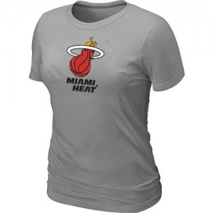 T-shirt principal de logo Miami Heat NBA Big & Tall Gris - Femme