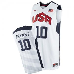 Maillot NBA Team USA #10 Kobe Bryant Blanc Nike Swingman 2012 Olympics - Homme