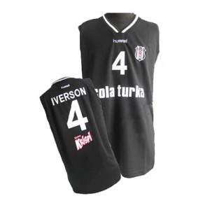 Maillot NBA Noir Allen Iverson #4 Philadelphia 76ers Authentic Homme Adidas