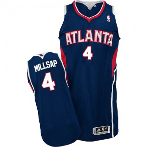 Maillot NBA Authentic Paul Millsap #4 Atlanta Hawks Road Bleu marin - Homme