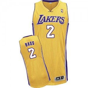 Maillot Adidas Or Home Authentic Los Angeles Lakers - Brandon Bass #2 - Homme