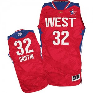 Maillot NBA Los Angeles Clippers #32 Blake Griffin Rouge Adidas Authentic 2013 All Star - Homme