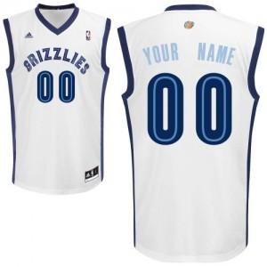 Maillot NBA Blanc Swingman Personnalisé Memphis Grizzlies Home Homme Adidas