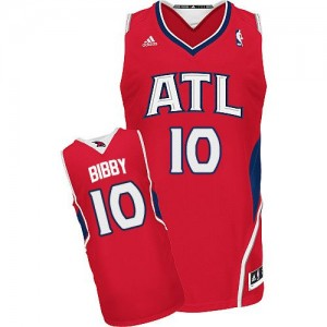 Atlanta Hawks Mike Bibby #10 Alternate Swingman Maillot d'équipe de NBA - Rouge pour Homme