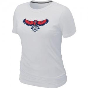 T-shirt principal de logo Atlanta Hawks NBA Big & Tall Blanc - Femme