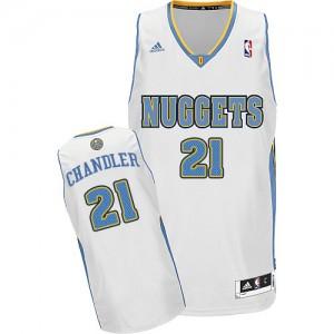 Denver Nuggets Wilson Chandler #21 Home Swingman Maillot d'équipe de NBA - Blanc pour Homme