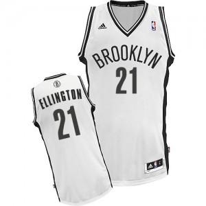 Brooklyn Nets Wayne Ellington #21 Home Swingman Maillot d'équipe de NBA - Blanc pour Homme