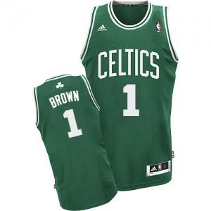Maillot NBA Boston Celtics #1 Walter Brown Vert (No Blanc) Adidas Swingman Road - Homme