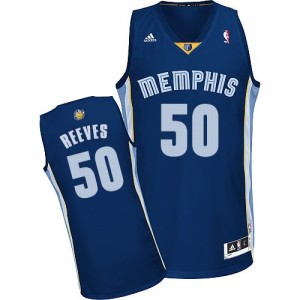 Maillot NBA Memphis Grizzlies #50 Bryant Reeves Bleu marin Adidas Swingman Road - Homme