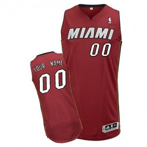 Maillot Adidas Rouge Alternate Miami Heat - Authentic Personnalisé - Homme