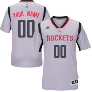 Houston Rockets Personnalisé Adidas Alternate Gris Maillot d'équipe de NBA en soldes - Swingman pour Enfants