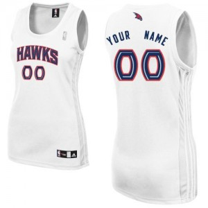 Atlanta Hawks Personnalisé Adidas Home Blanc Maillot d'équipe de NBA Magasin d'usine - Authentic pour Femme