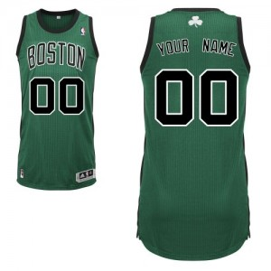 Maillot NBA Boston Celtics Personnalisé Authentic Vert (No. noir) Adidas Alternate - Homme
