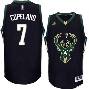 Maillot NBA Milwaukee Bucks #7 Chris Copeland Noir Adidas Swingman Alternate - Homme