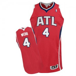 Maillot NBA Authentic Spud Webb #4 Atlanta Hawks Alternate Rouge - Homme