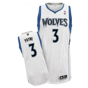 Maillot Adidas Blanc Home Authentic Minnesota Timberwolves - Adreian Payne #3 - Homme