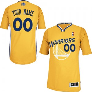 Maillot NBA Or Authentic Personnalisé Golden State Warriors Alternate Femme Adidas