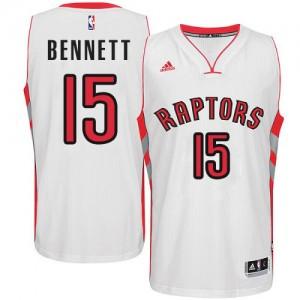 Maillot Adidas Blanc Home Swingman Toronto Raptors - Anthony Bennett #15 - Homme