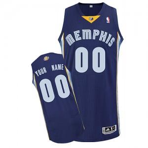 Maillot NBA Authentic Personnalisé Memphis Grizzlies Road Bleu marin - Homme