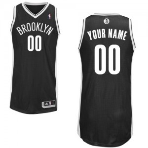 Maillot NBA Authentic Personnalisé Brooklyn Nets Road Noir - Homme