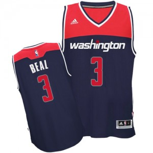Maillot NBA Washington Wizards #3 Bradley Beal Bleu marin Adidas Authentic Alternate - Homme