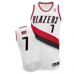 Portland Trail Blazers Brandon Roy #7 Home Authentic Maillot d'équipe de NBA - Blanc pour Homme