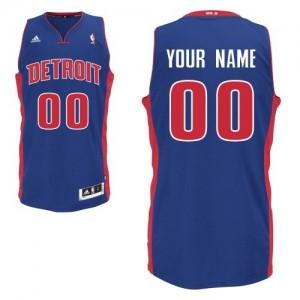 Detroit Pistons Swingman Personnalisé Road Maillot d'équipe de NBA - Bleu royal pour Enfants