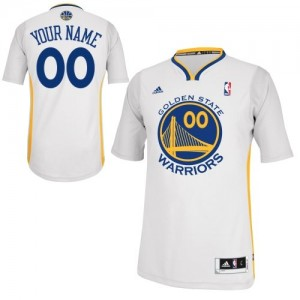 Maillot Adidas Blanc Alternate Golden State Warriors - Swingman Personnalisé - Femme