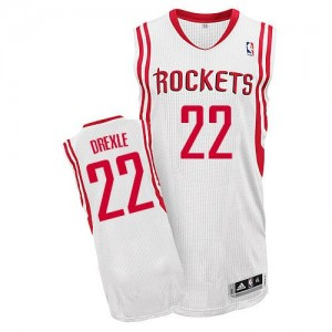 Maillot Adidas Blanc Home Authentic Houston Rockets - Clyde Drexler #22 - Homme
