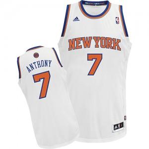 Maillot NBA Swingman Carmelo Anthony #7 New York Knicks Home Blanc - Homme