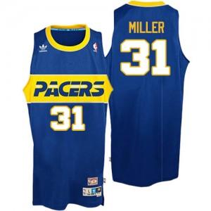 Maillot NBA Swingman Reggie Miller #31 Indiana Pacers Throwback Bleu - Homme