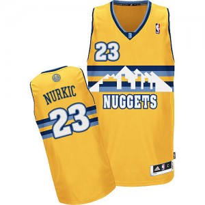 Denver Nuggets Jusuf Nurkic #23 Alternate Authentic Maillot d'équipe de NBA - Or pour Homme