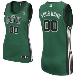 Maillot Boston Celtics NBA Alternate Vert (No. noir) - Personnalisé Authentic - Femme