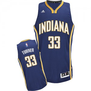 Maillot Adidas Bleu marin Road Swingman Indiana Pacers - Myles Turner #33 - Homme