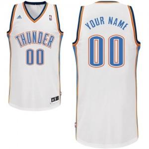 Maillot NBA Oklahoma City Thunder Personnalisé Swingman Blanc Adidas Home - Homme