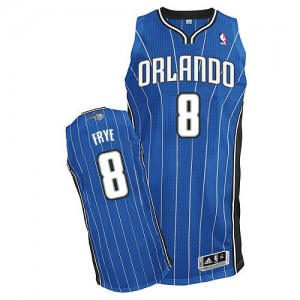 Maillot NBA Orlando Magic #8 Channing Frye Bleu royal Adidas Authentic Road - Homme