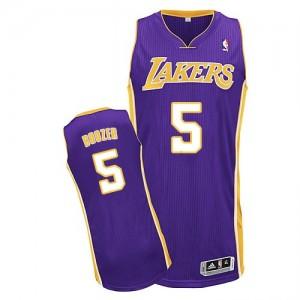 Los Angeles Lakers #5 Adidas Road Violet Authentic Maillot d'équipe de NBA Remise - Carlos Boozer pour Homme