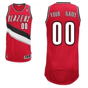 Portland Trail Blazers Authentic Personnalisé Alternate Maillot d'équipe de NBA - Rouge pour Enfants