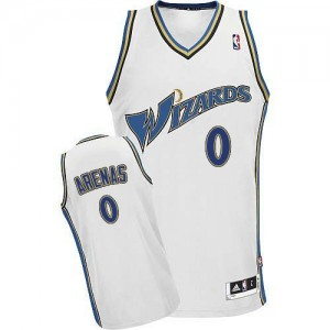 Maillot Adidas Blanc Authentic Washington Wizards - Gilbert Arenas #0 - Homme