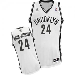 Brooklyn Nets #24 Adidas Home Blanc Swingman Maillot d'équipe de NBA Braderie - Rondae Hollis-Jefferson pour Homme