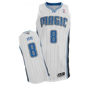 Maillot NBA Orlando Magic #8 Channing Frye Blanc Adidas Authentic Home - Homme